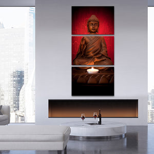 Namaste Multi Panel Canvas Wall Art - Buddhism