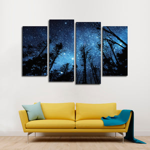 Nocturnal Skyline Multi Panel Canvas Wall Art - Gothic