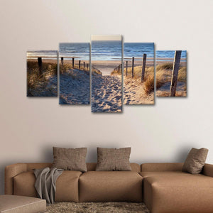 Path to the Sea Multi Panel Canvas Wall Art - Beach