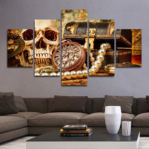 Pirates Treasure Multi Panel Canvas Wall Art - Gothic