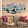 Pretty Blooms Multi Panel Canvas Wall Art