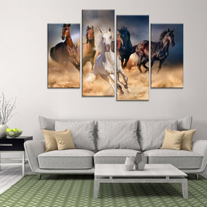 Running in the Wild Multi Panel Canvas Wall Art - Horse