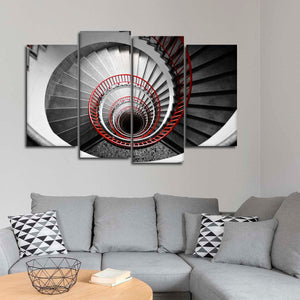 Spinning Stairs Pop Multi Panel Canvas Wall Art - Stairs