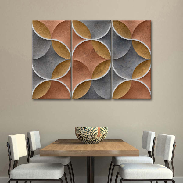 Stoneware Wall Tile Multi Panel Canvas Wall Art