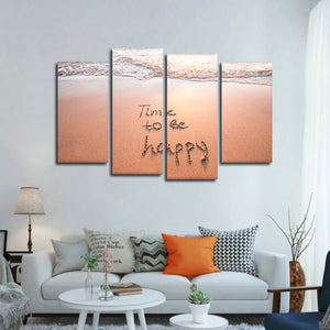 Time To Be Happy Multi Panel Canvas Wall Art - Psychology