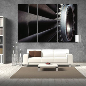 Airplane Engine Multi Panel Canvas Wall Art - Airplane