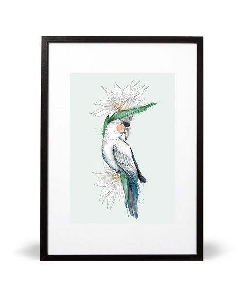 Bird of Paradise Illustrative Print - Intricate Collections