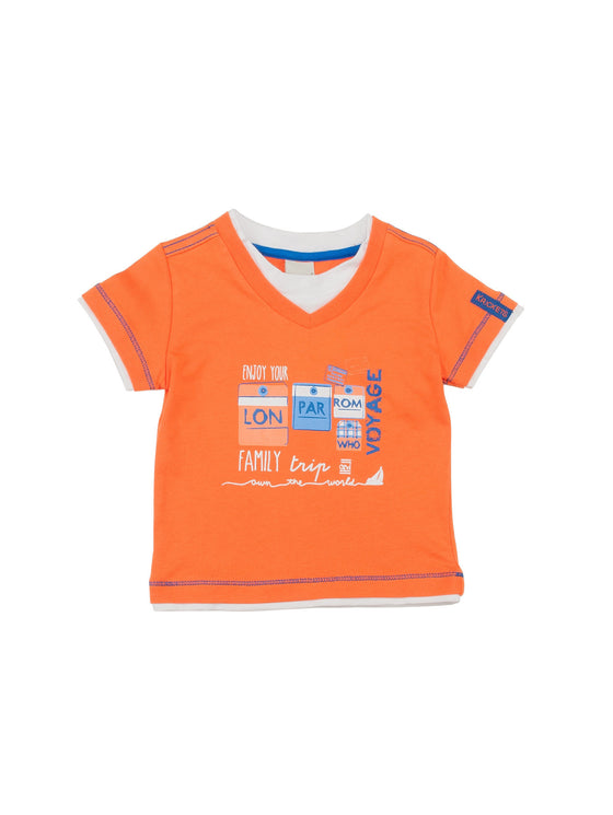 Garçons Teeshirt orange