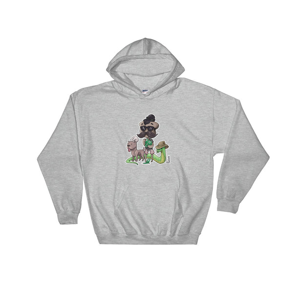Secret Hunter (Sticker Style) Hoodie