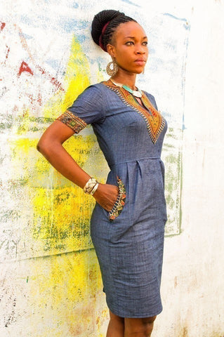 TheMotherland.online Awo Denim Dress