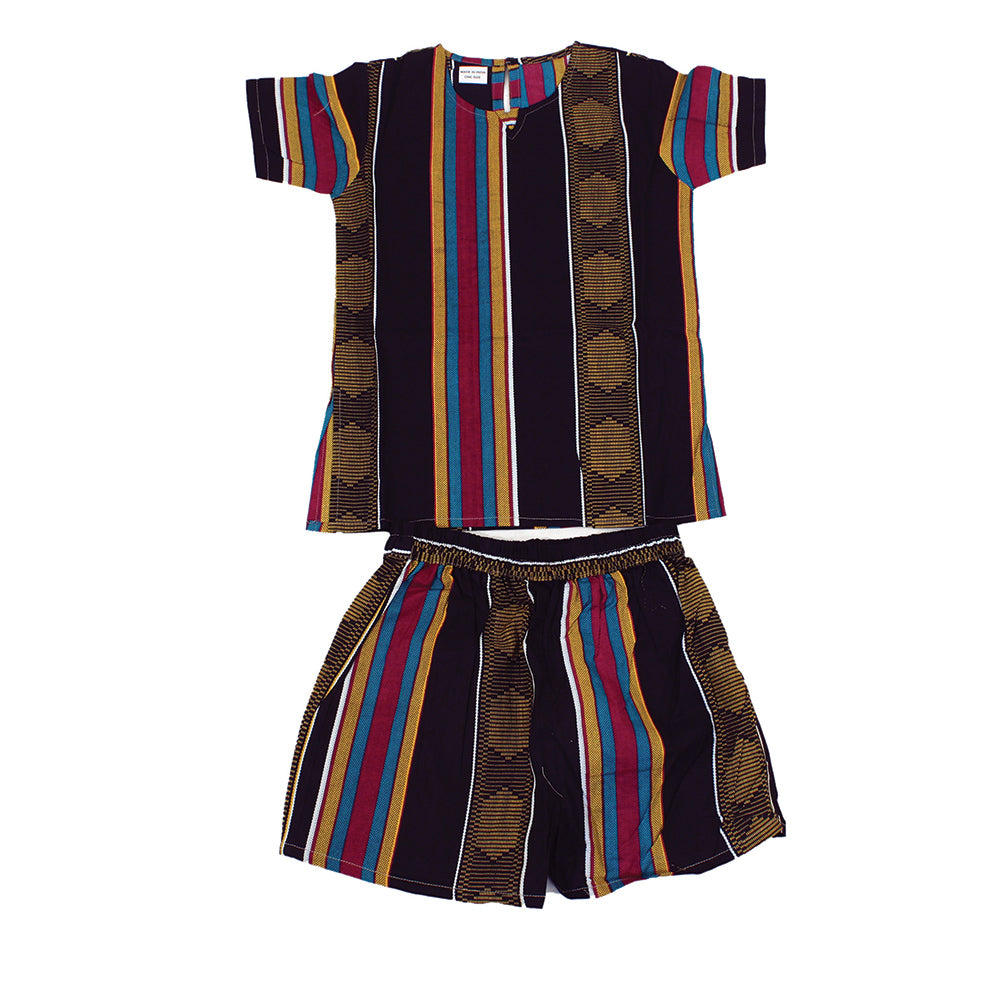 Boy's African Print Summer Set