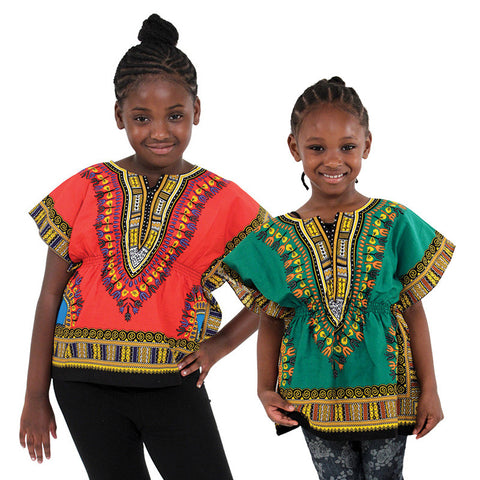 Children's Elastic Waist Traditional Dashiki