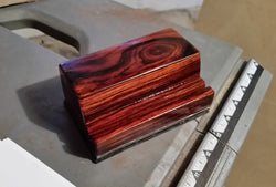Cocobolo Business Card Holder with Steel Base