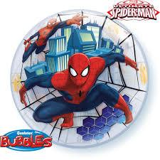 Globo Burbuja Sencilla de 22 Pulgadas Spiderman Qualatex