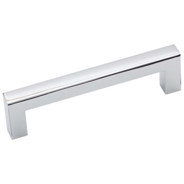 Image Of Cabinet Handle Pull -  Square -  3 3/4 In. Center To Center - Chrome Finish - Harney Hardware