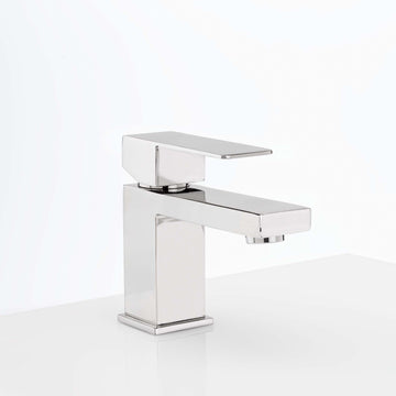 Image Of Single Hole Contemporary / Modern Bathroom Sink Faucet -  5 In. High -  Westshore - Chrome Finish - Harney Hardware