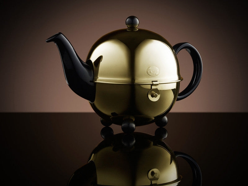 TWG Tea Design Gold Teapot in Black (900ml)
