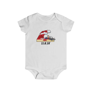 Red Wave (Trump & The Elephant On Election Beach) - Infant Rip Snap Tee