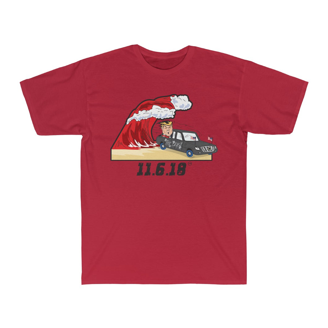 Red Wave (Trump and The Beast) - Men's Surf Tee