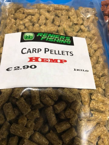 Reniers Fishing - Carp Pellets Hemp (1kg)