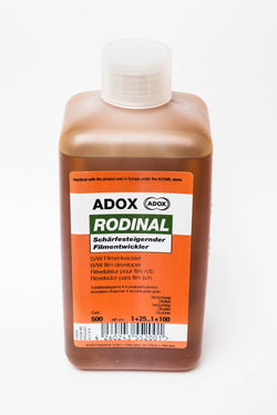 Adox Original  Rodinal 500ml concentrate. Black and White Film Developer, Agfa Leverkusen´s latest Rodinal* formula from 2004.