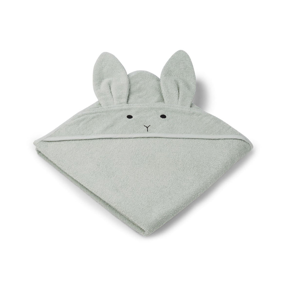 Liewood_augusta_Hooded_Towel-Towel_Rabbit_rose_serviette_chat_douche_bain_quebec_mint