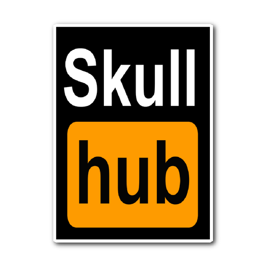 Skull Hub Sticker. Because we love skulls that much!