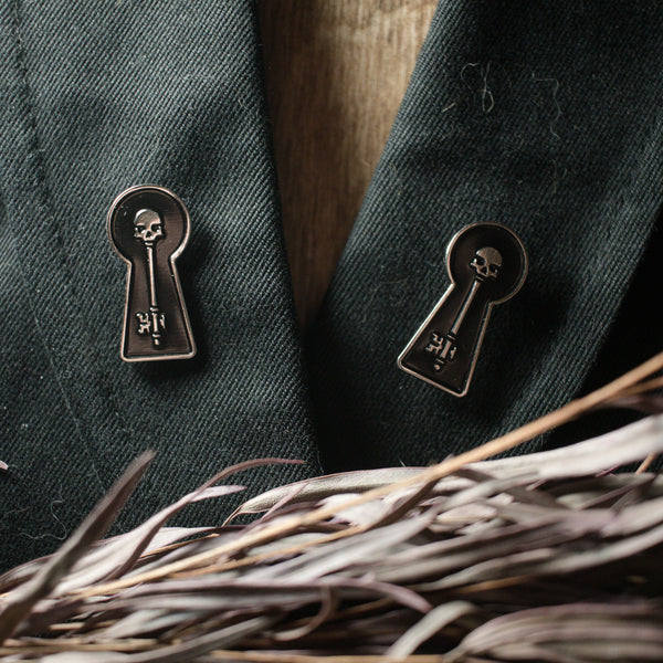 The Skeleton Key Enamel Pin set