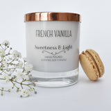 French Vanilla Luxury Scented Candle | Personalise for a gift or just for you