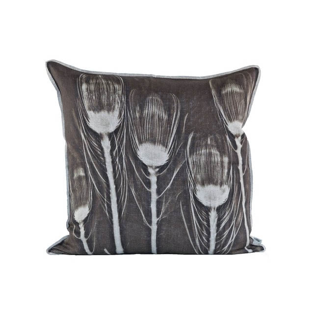 WILL'S RUST PROTEA THROW PILLOW PRINTED