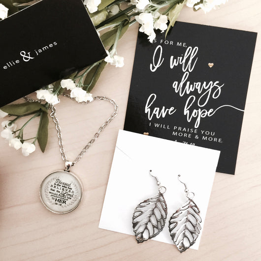 Mother's Day Necklace + Earrings