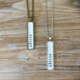"""I AM..."" Bar Necklace"