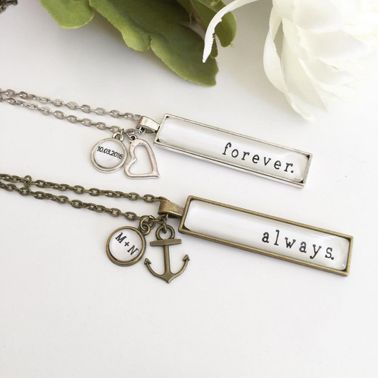 Custom Rectangle Name/Word Necklace