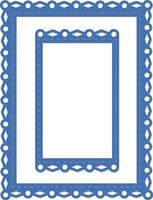 DD556 - Decorative Die- Rectangle fancy frames