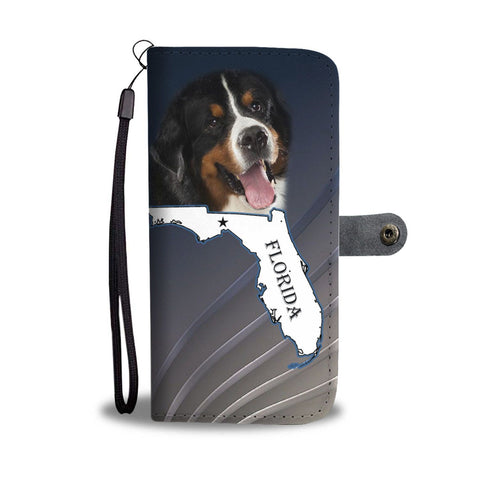 Bernese Mountain Dog Print Wallet Case-Free Shipping-FL State