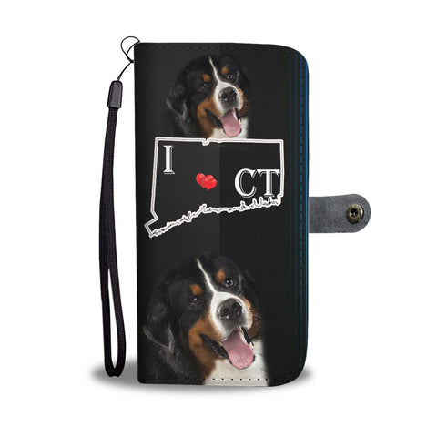 Amazing Bernese Mountain Dog Print Wallet Case-Free Shipping-CT State