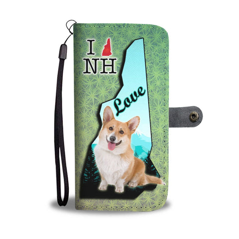 Cardigan Welsh Corgi Print Wallet Case-Free Shipping-NH State
