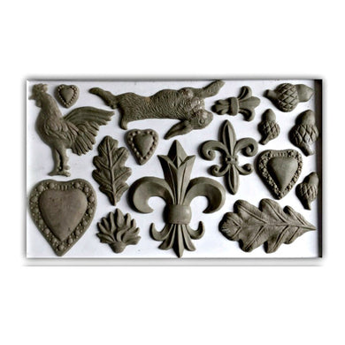 Fleur de lis IOD Decor Mould (6