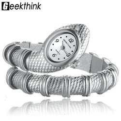 Ladies Snake Shaped Bracelet Watch - [product_collection]