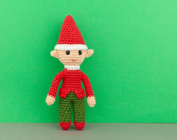 Elf crocheted toy