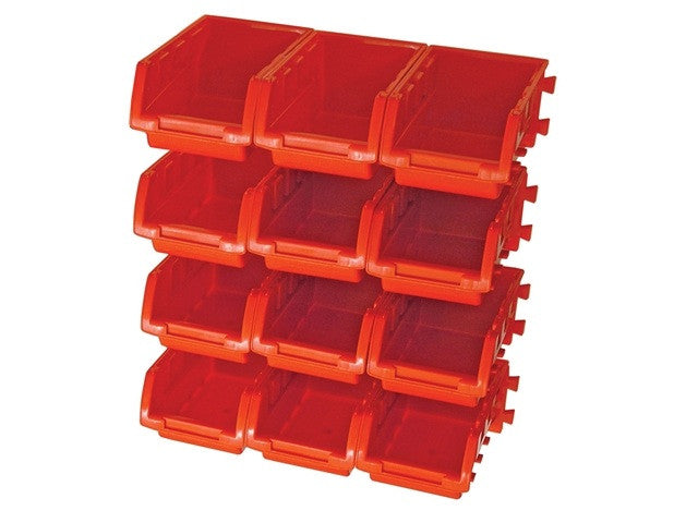 Wall Storage Bins c/w Mounting Rails