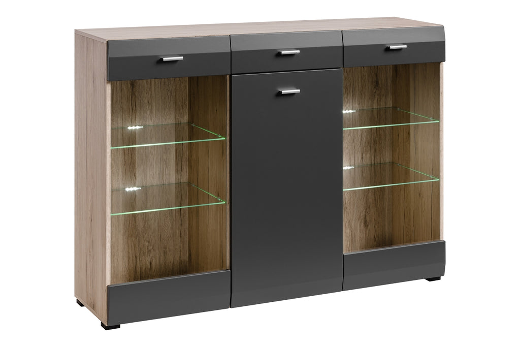 Cool Sideboard-San Remo Oak/Graphite