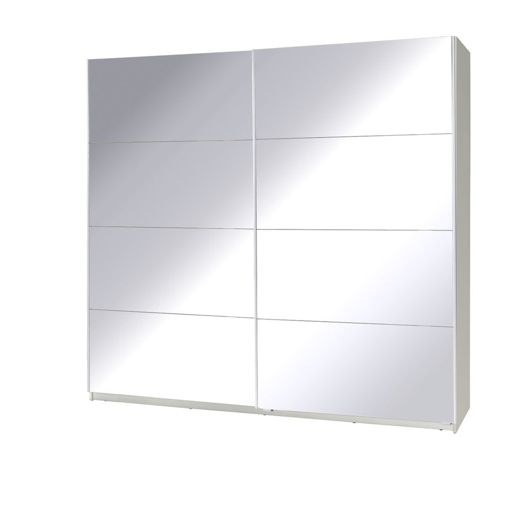 Twister 1 Wardrobe 225cm White/Mirror