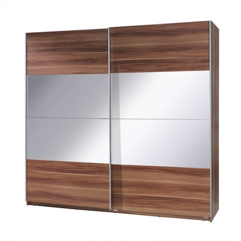 Twister 2 wardrobe 225cm Plum/Mirror