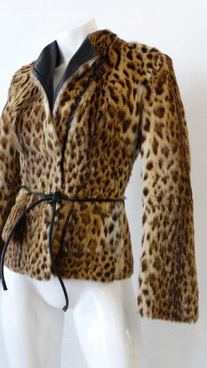 1999 Tom Ford for Gucci Leopard Print Fur Jacket