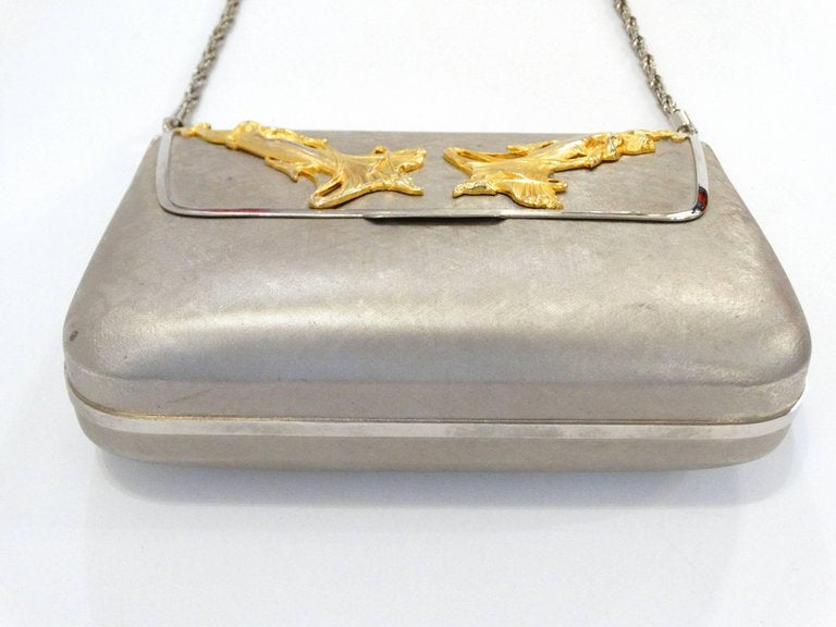 1960s Harry Rosenfeld Silver and Gold Evening Bag