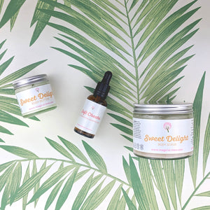 Sweet Delight Body Butter & Sweet Delight Body Scrub & Soft Cheeks Face Serum