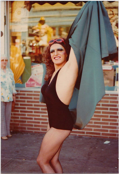 Drag Queen in Swimsuit: Vintage Gay Photo