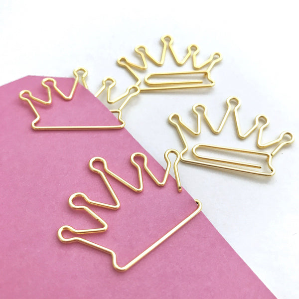 Crown Paper Planner Clips