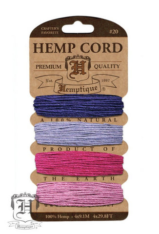 Hemp Cord Card - Berry Bar